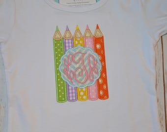 Crayons with Monogram- Portion of sales donated to Cure SMA