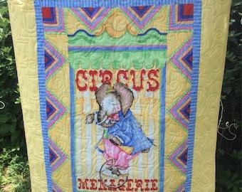 """36"""" x 52"""" Circus Quilt"""