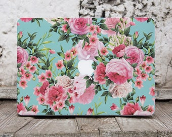 Tropical Flowers Macbook Pro Decal Laptop Decal Macbook Pro Sticker Macbook Air Decal Macbook Sticker Decal Vinyl Laptop Decal Mac Skin 120