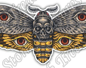 Butterfly Bee Wasp Skull Insect Wing Flying Car Bumper Vinyl Sticker Decal