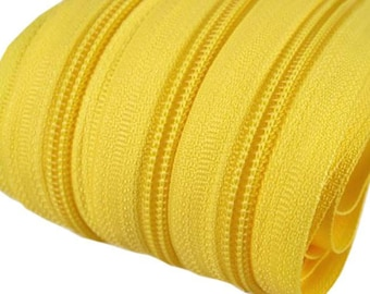 6m of endless zipper 5mm with 15 zippers and ends 110 yellow