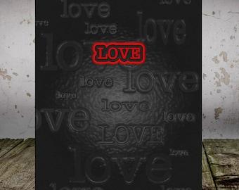 Love - Follow the Gleam birthday  - greetings cards blank