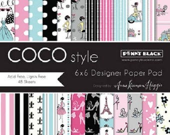 Penny Black Coco Style 6x6 Paper Pad