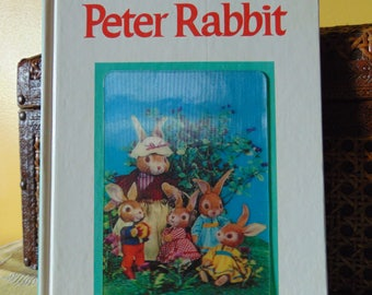 Peter Rabbit , 1968 , 3D Hologram Cover ,  Adapted from the classic tale by Beatrix Potter  ,  Puppet Storybook