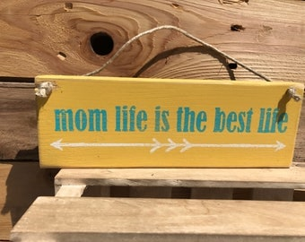1 in stock mom life is the best life sign, hand painted pallet signboss babe, hustle sign