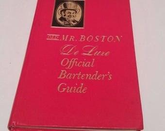 1963 Old Mr Boston De Luxe Official Bartender's Guide - Author Leo Cotton, Bar Cart Decor, Bartender Gift