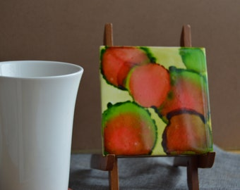 Abstract Watermelon coaster set (set of 2)