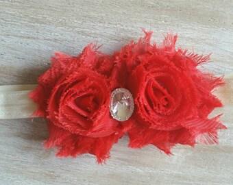 Cherry and Crystal Baby Headband