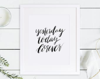 Hebrews 13:8 / Same Yesterday, Today, Forever / Love Never Fails / Bible Printable / Christian Printable / Christian Gifts / Bible Quote