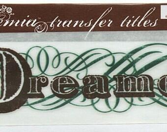 Dreamer Title Rub On Transfer Embellishments Cardmaking Crafts My Mind's Eye Bohemia