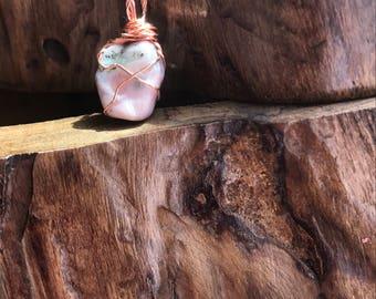 Pink Prehnite Pendant