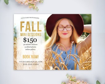 Fall Mini Session Template | Photography Template | Photographer Resources