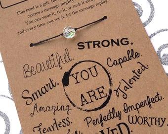 EMPOWERMENT Bracelet / Motivation / Self Esteem / Strength / Encouragement