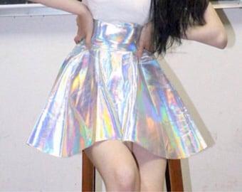 Holographic Minx Techno Skirt