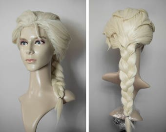 Elsa FROZEN blond platinum wig cosplay lace front