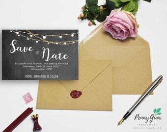 DIY Printable Wedding Stationery, Editable PDF – Beautiful Barbara Save the Date