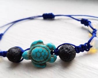 Turtle Love Shamballa Diffuser Bracelet