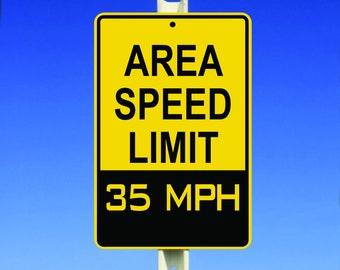 35 MPH Speed Limit Aluminum Sign