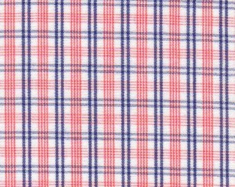 """Orange and Navy Blue Check Fabric from Fabric Finders, Fabric Finders Fabrics, Check Fabric, Fabric by the yard, Gingham fabric, 60"""" Width"""
