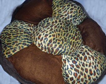 Brown and Leopard Flexi Bed - Medium - 36""
