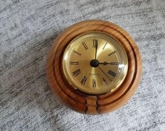 Yew porthole clock