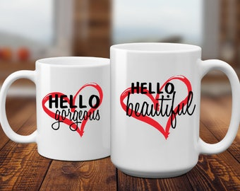 Hello Beautiful | Birthday Gift | Anniversary Gift | Best Friend Gift | CoWorker Gift | Bridesmaid Gift | Coffee Mug | Gift for Her        |