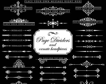 wedding embellishment, flourish swirl, svg, eps, dxf, png, ornate border, frame, corner, text divider, decor, cut files, svg decor ,cricut