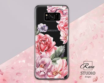 Roses Samsung case s8 galaxy Samsung s7 Galaxy s8 plus clear Floral samsung case Samsung note 8 Galaxy samsung s6 Samsung A5 2017 case Peony