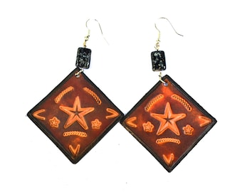 To Infinity and Beyond Leather Earrings