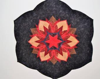 Patchwork star flower centerpiece
