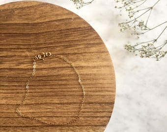 Gold Anklet - Dainty chain anklet - 14k gold filled - Minimalist - Foot Jewelry - simple jewelry - gift for her