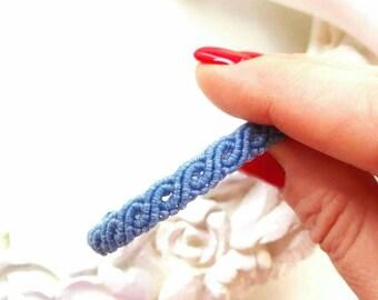 Unisex Macrame bracelet , Pandora  bracelet,  wave  bracelet in 15 different  colors.