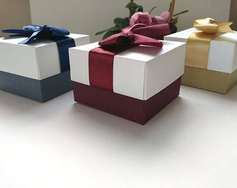 10  jewelry packaging, wedding favor boxes , bridesmaid gift box, jewerly packaging , Colorful boxes, gift box,gift boxes with lids