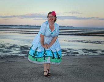 Waterfront Painting Dress