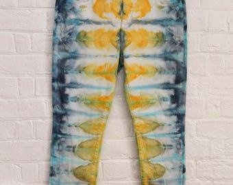 Ladies Size xxl/18 Regular Straight Leg Jeans - Beach - Festival - Ready To Ship - Tie Dyed - 100% Cotton - FREE SHIPPING within AUS