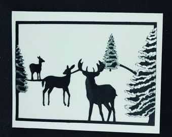 Winter Woodland Silhouettes