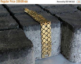 SPRING SALE Gold link bracelet, Gold chain bracelet, statement bracelet, chunky gold bracelet, Yellow gold bracelet, 24k gold bracelet, gold