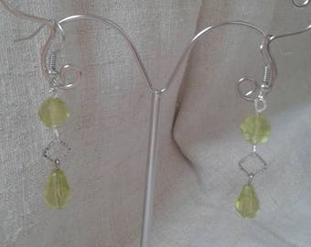 """Earrings """"yellow faceted beads"""""""