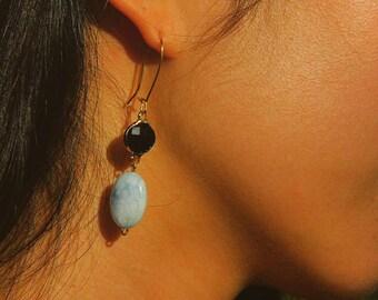 Asia Inspired Stone Drop Earring, Gemstone Earring, Simple Drop Earring