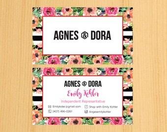 PRINTABLE Agnes and Dora Business Card,Business Cards01 | BSNC2