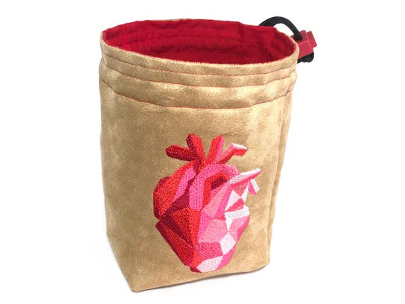 Dice Bag - Faceted Heart