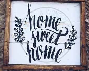 Home Sweet Home / Farmhouse Decor/ Rustic Sign /Shiplap Sign