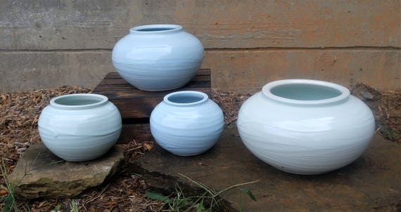 Large Slip Vases Ready to Ship