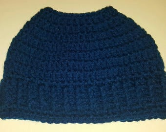 Royal Blue Messy bun hat (Ready to ship)