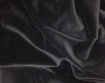 Black velveteen fabric
