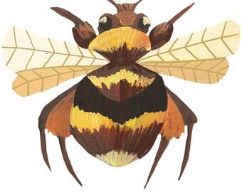 Bee Die-Cut sticker