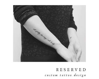 RESERVED - Tattoo Design for Naomi