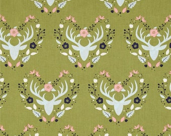 fabric collection-green cotton patchwork MEADOW by Camelot Fabrics