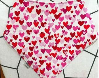 Heart Print Dribble Bib