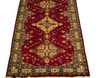 Kavkaz Hand Knotted Silk Wool Rug